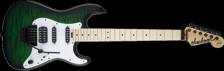 USA Signature Adrian Smith San Dimas® SDQM, Maple Fingerboard, Transparent Green Burst