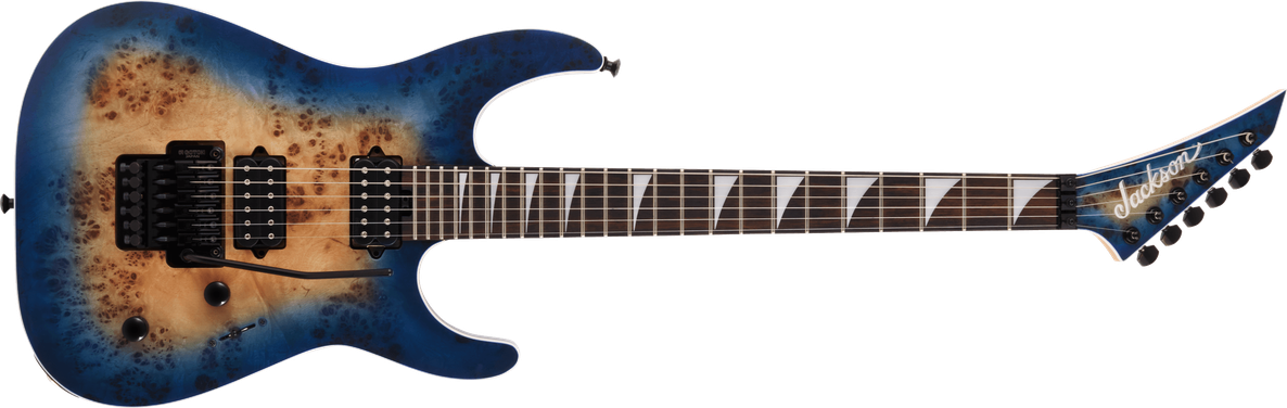 MJ Series Dinky™ DKRP, Ebony Fingerboard, Transparent Blue Burst