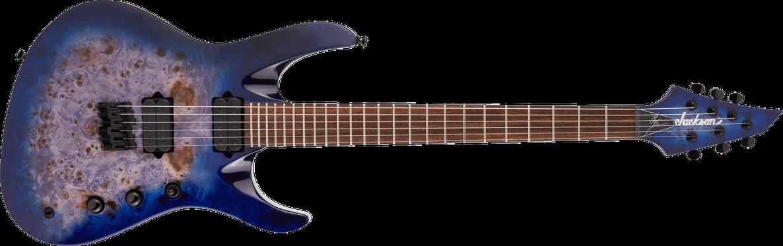 Pro Series Signature Chris Broderick Soloist™ HT6P, Laurel Fingerboard, Transparent Blue