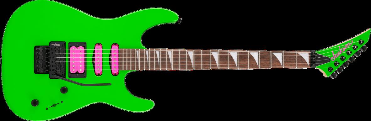 X Series Dinky™ DK3XR HSS, Laurel Fingerboard, Neon Green