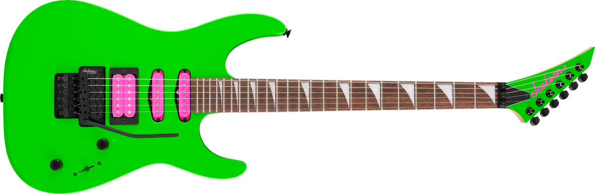 X Series Dinky™ DK3XR HSS, Laurel Fingerboard, Neon Green