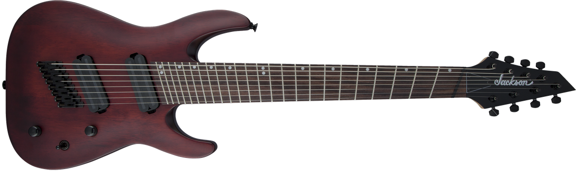X Series Dinky™ Arch Top DKAF8 MS, Laurel Fingerboard, Multi-Scale, Stained Mahogany
