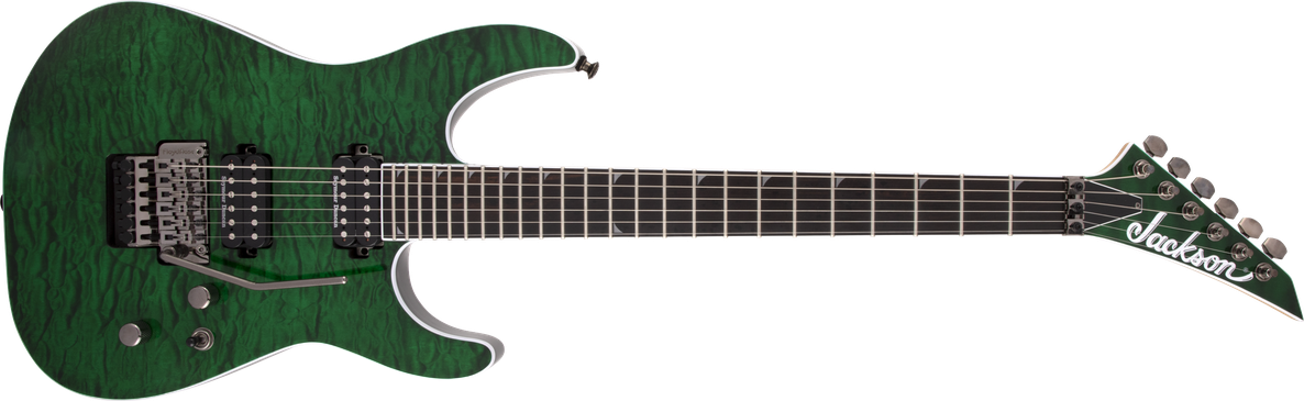 Pro Series Soloist™ SL2Q MAH, Ebony Fingerboard, Transparent Green