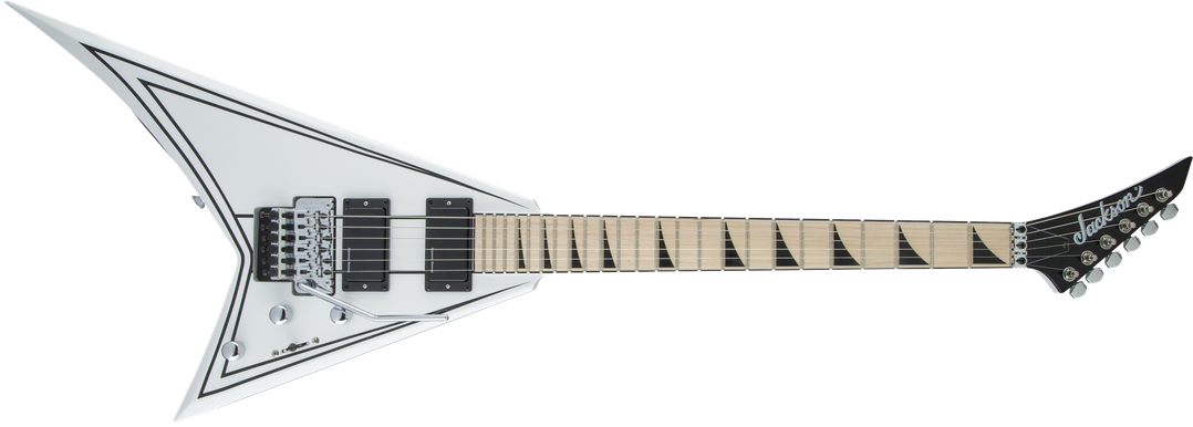 X Series Rhoads RRX24M, Maple Fingerboard, Snow White with Black Pinstripes