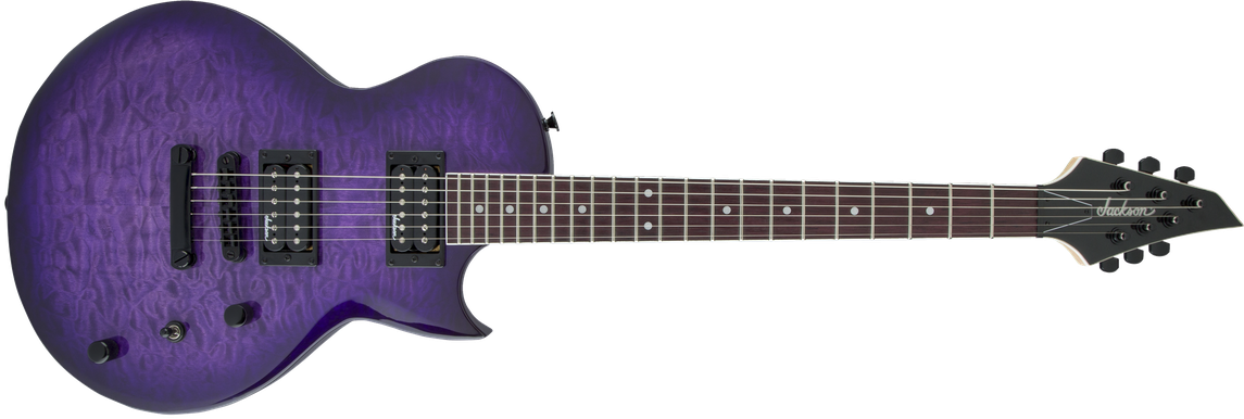 JS Series Monarkh SC JS22Q, Amaranth Fingerboard, Transparent Purple Burst