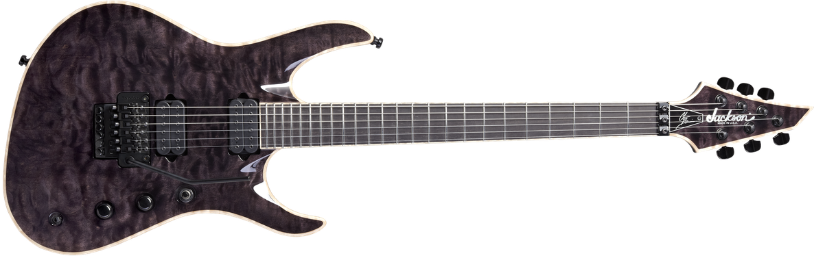 USA Signature Chris Broderick Soloist™ 6, Ebony Fingerboard, Transparent Black