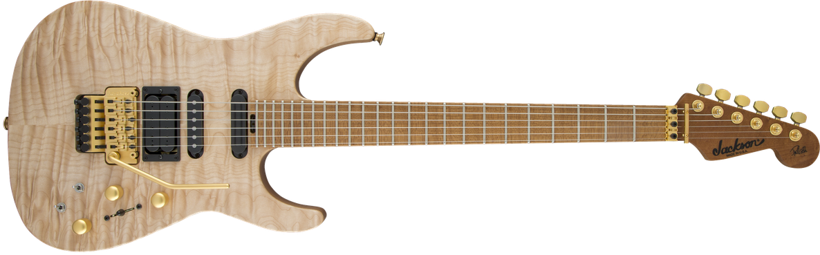 USA Signature Phil Collen PC1™ Satin Stain, Caramelized Flame Maple Fingerboard, Satin Au Natural