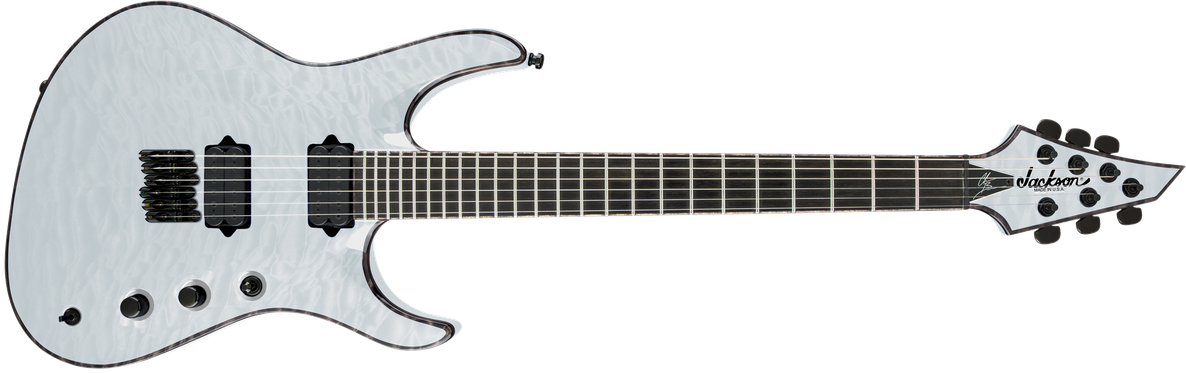 USA Signature Chris Broderick Soloist™ HT6, Ebony Fingerboard, Transparent White