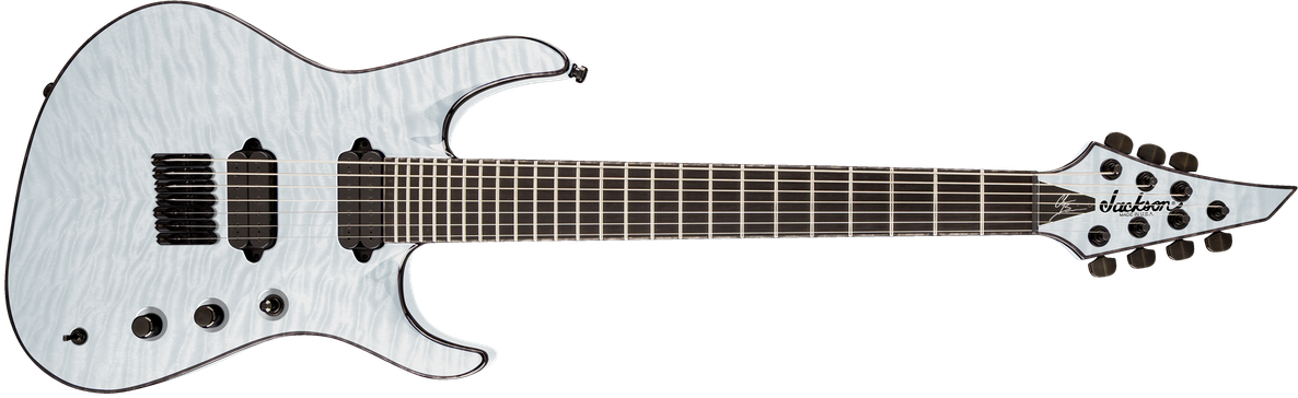 USA Signature Chris Broderick Soloist™ HT7, Ebony Fingerboard, Transparent White