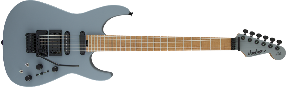 USA Signature Phil Collen PC1™ Matte, Caramelized Flame Maple Fingerboard, Satin Gray