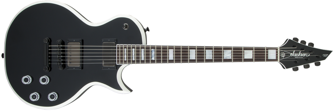 USA Signature Marty Friedman MF-1, Rosewood Fingerboard, Gloss Black with White Bevels
