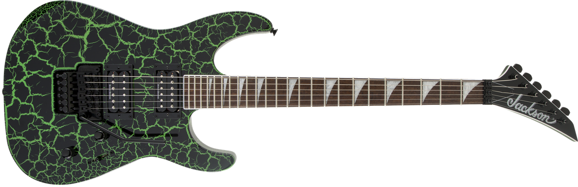 X Series Soloist™ SLX Crackle, Laurel Fingerboard, Green Crackle