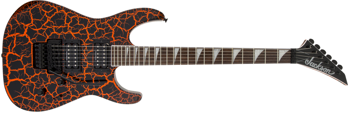 X Series Soloist™ SLX Crackle, Laurel Fingerboard, Orange Crackle