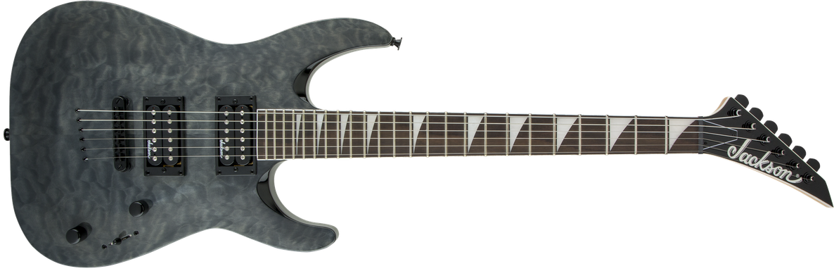 JS Series Dinky™ Arch Top JS32TQ DKA, Amaranth Fingerboard, Transparent Black