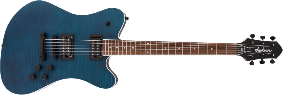 X Series Signature Mark Morton Dominion DX2FM, Laurel Fingerboard, Satin Transparent Blue