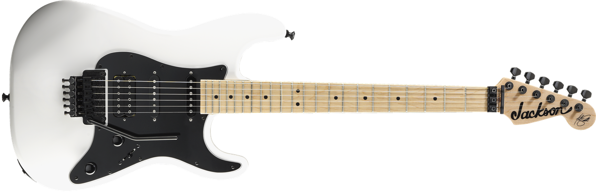 X Series Signature Adrian Smith SDXM, Maple Fingerboard, Snow White with Black Pickguard
