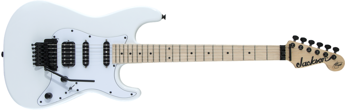 X Series Signature Adrian Smith SDXM, Maple Fingerboard, Snow White with White Pickguard