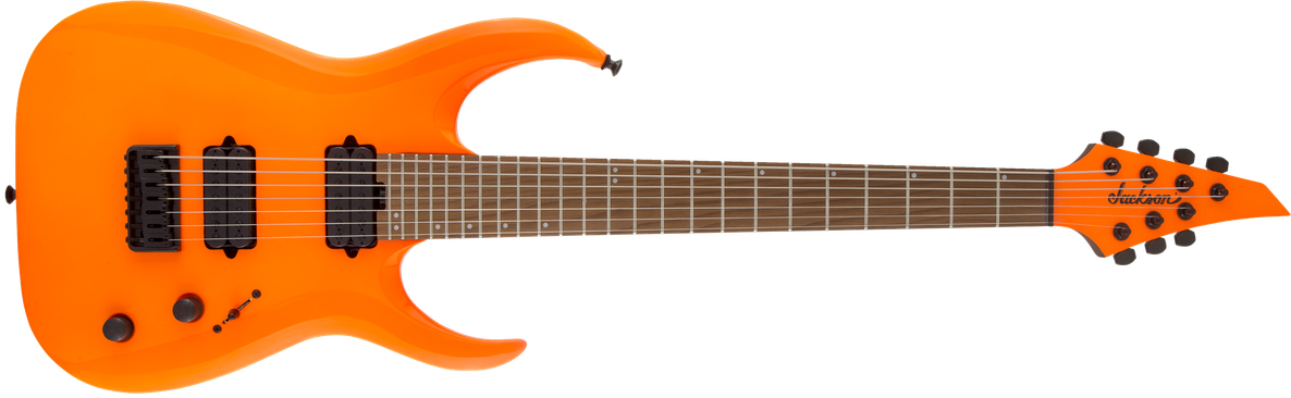 Pro Series Signature Misha Mansoor Juggernaut HT7, Caramelized Maple Fingerboard, Neon Orange