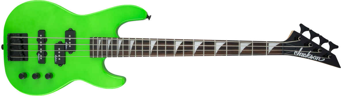JS Series Concert Bass™ Minion JS1X, Amaranth Fingerboard, Neon Green
