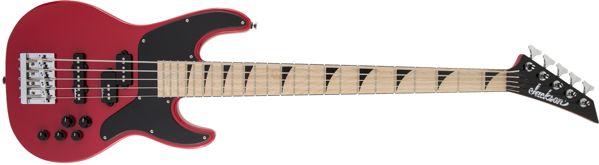 X Series Concert™ Bass CBXNTM V, Maple Fingerboard, Fiesta Red