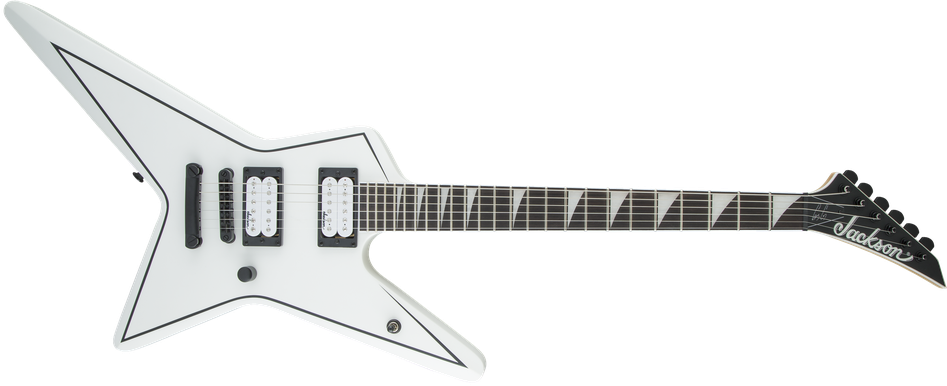 JS Series Signature Gus G. Star JS32, Amaranth Fingerboard, Satin White with Black Pinstripes