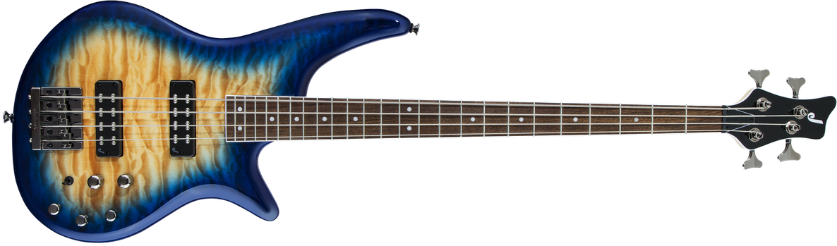 JS Series Spectra Bass JS3Q, Laurel Fingerboard, Amber Blue Burst